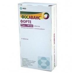 Buy Fosavance Forte pills 70 mg + 140 mcg, 4 pcs