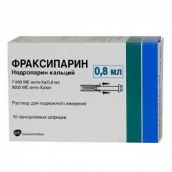 Buy Fraxiparine® syringe 7600 ME 0.8 ml, 10 pcs