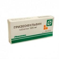Buy Griseofulvin pills 125 mg, 20 pcs