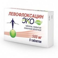 Buy Levofloxacin pills 500 mg 5 pcs