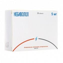 Buy Nebivolol pills 5 mg 28 pcs packaging