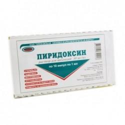 Buy Pyridoxine ampoules 5%, 1 ml, 10 pcs