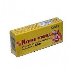 Buy Sodium Fluoride pills 0,0011mg, 30 pcs