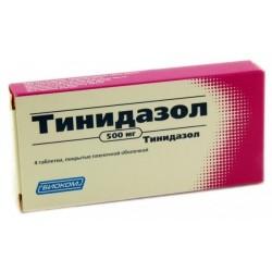 Buy Tinidazole pills 500 mg 4 pcs packaging