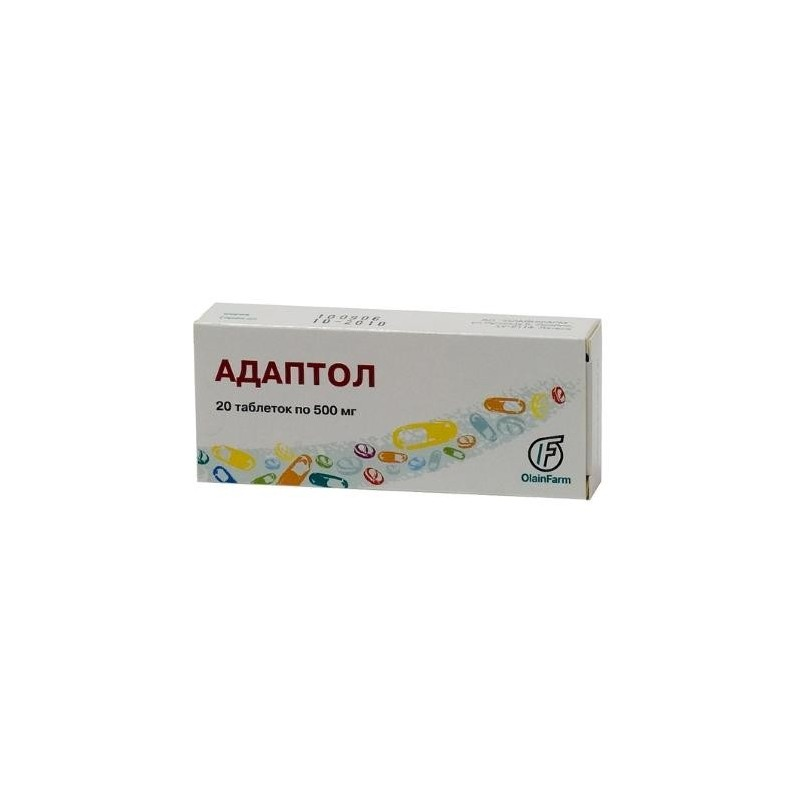 Buy Adaptol pills 500 mg, 20 pcs