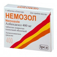 Buy Nemozole pills 400 mg, 5 pcs