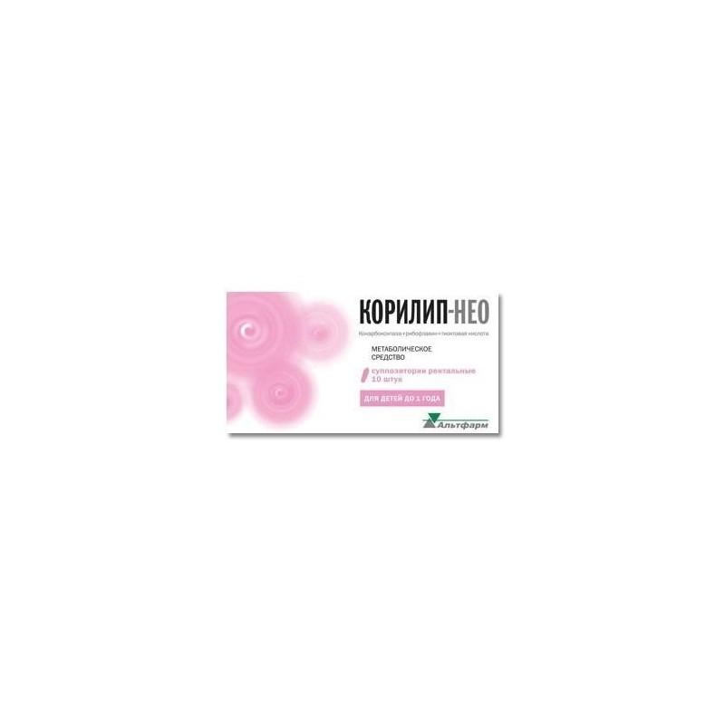 Buy Corilip-NEO rectal suppositories 10 pcs