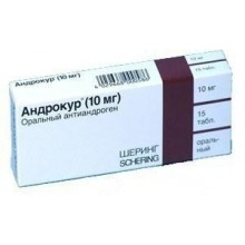 Buy Androcur pills 10 mg, 15 pcs