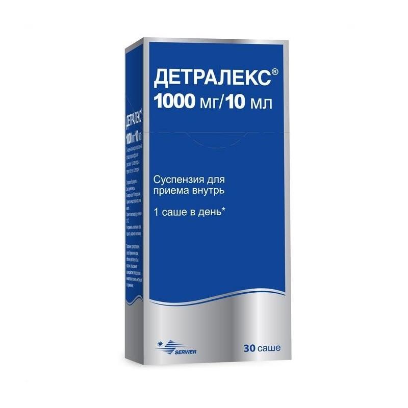Buy Detralex suspension 1000 mg/10 ml sachet 10 ml 30 pcs