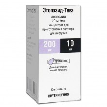 Buy Etoposide-Teva solution concentrate 20 mg/ml vial 10 ml