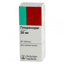 Buy Glurenorm pills 30 mg, 60 pcs