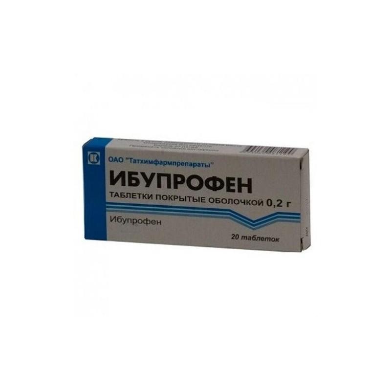 Buy Ibuprofen pills 200 mg, 20 pcs