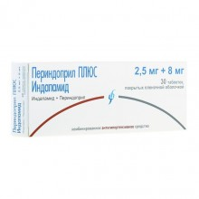 Buy Perindopril-Indapamide pills 2.5 mg + 8 mg 30 pcs packaging
