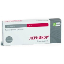 Buy Lernicor pills 20 mg 28 pcs