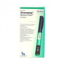 Buy Levemir FlexPen pen 100 IU/ml 3 ml, 5 pcs