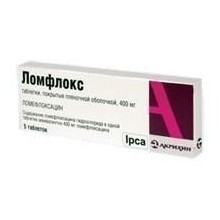 Buy Lomflox pills 400 mg, 5 pcs