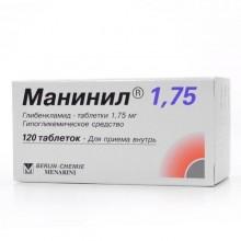 Buy Maninil pills 1.75 mg, 120 pcs