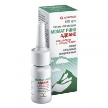 Buy Momate Rhino® spray 140 mcg + 50 mcg/dose 150 doses vial