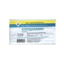 Buy Cordiamine for injection ampoules 25%, 2 ml, 10 pcs