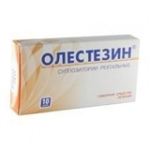 Buy Olestezin rectal suppositories 10 pcs