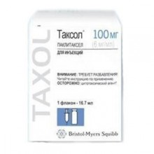 Buy Taxol solution concentrate 6 mg/ml 16.7 ml (100 mg) bottles 1 pc.