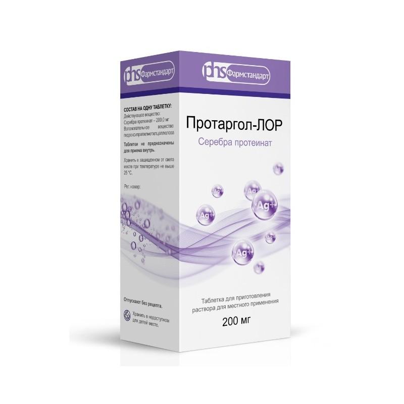 Buy Protargol-ENT pills 200 mg per comp. fl., roof-pipette blister 2 pcs
