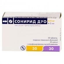 Buy Sonirid Duo capsules 0.4 mg and 5 mg pills, 30 pcs