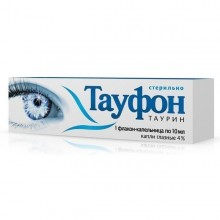 Buy Taufon eye drops 4%, 10 ml