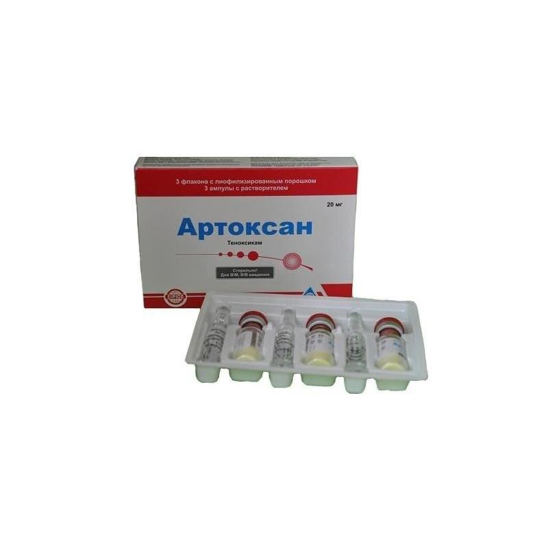 Buy Artoxan lyophilisate 20 mg vial 3 pcs + solvent vial 3 pcs + solvent