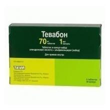 Buy Tevabon pills 70 mg, 4 pcs + Capsules 1 mg, 28 pcs