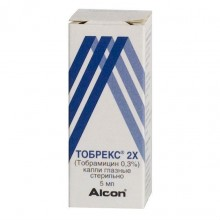 Buy Tobrex 2X eye drops 0.3%, 5 ml