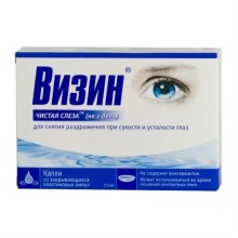 Buy Visine Pure Tears eye drops 1 day 0.5 ml ampoule 10 pcs