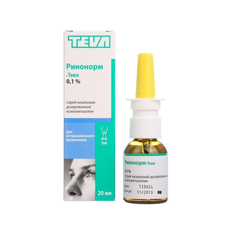 Buy Rinonorm-Teva spray 0.1% 20 ml