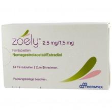 Buy Zoely pills 2.5 mg + 1.5 mg 84 pcs