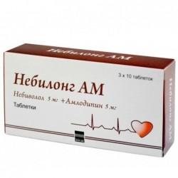 Buy Nebilong AM pills 5 mg + 5 mg, 30 pcs