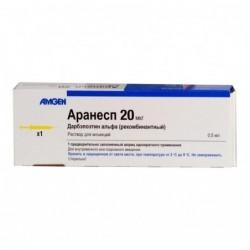 Buy Aranesp solution 20 mcg 0.5 ml syringe, 1 pc.
