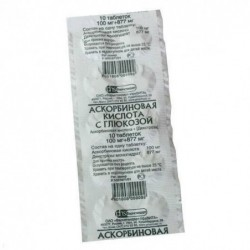 Buy Ascorbic acid with glucose pills 100 mg 10 pcs