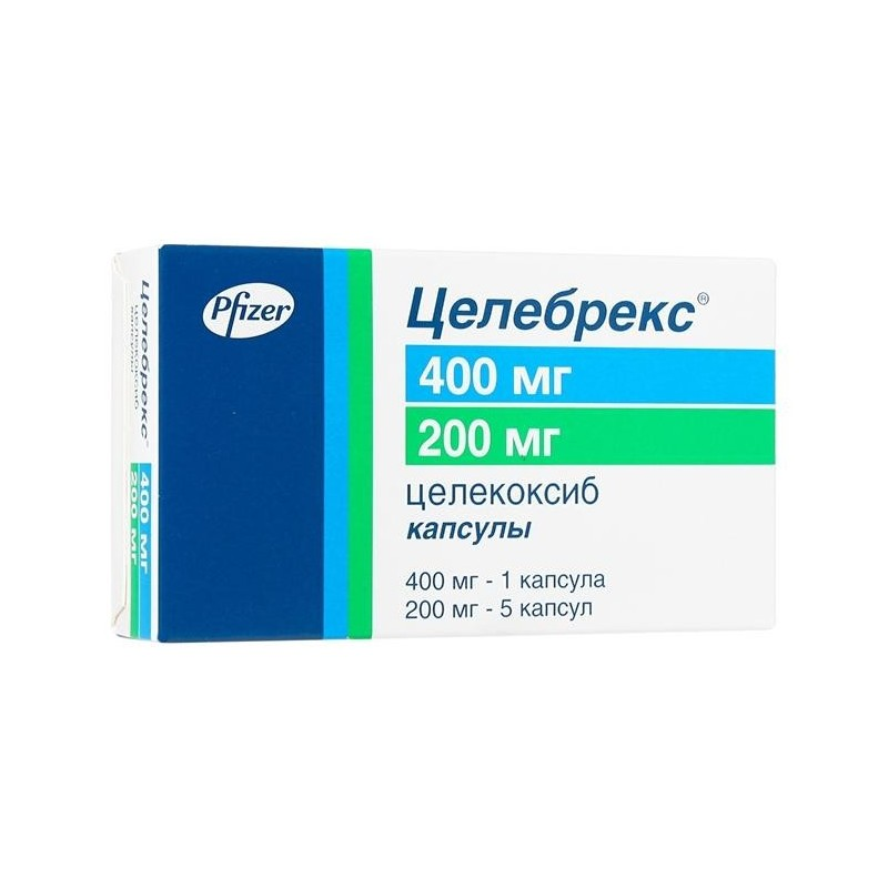 Buy Celebrex capsules 400 mg 1 pc. + 200 mg 5 pcs packaging
