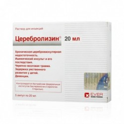 Buy Cerebrolysin solution 20 ml ampoules 5 pcs
